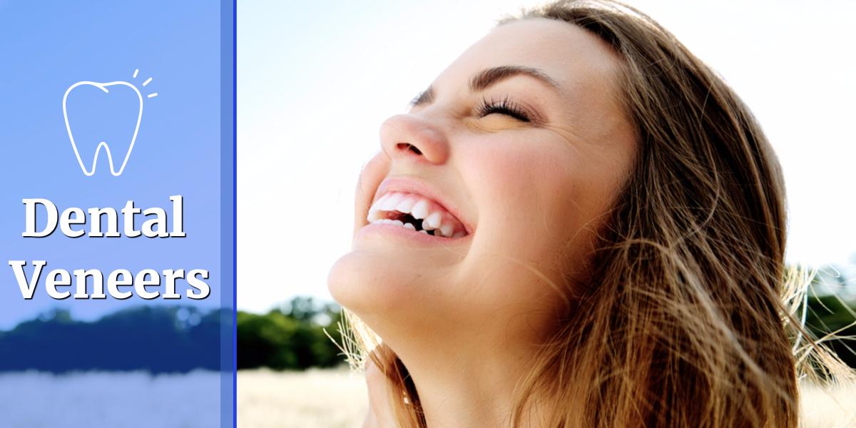 Girl smiling with dental veneers